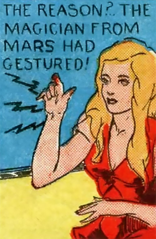 Magician from Mars (Centaur comics) using her powers