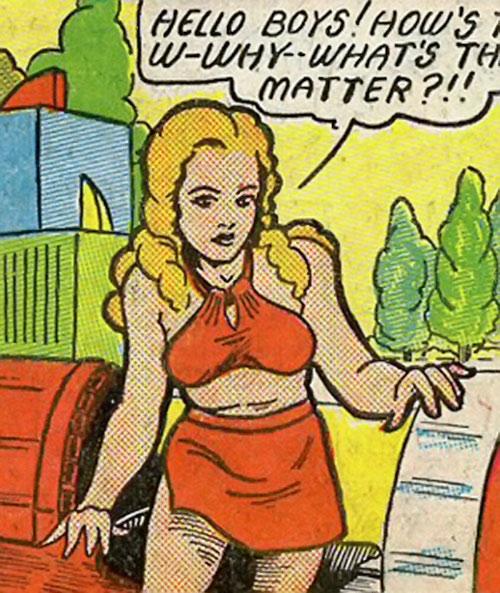Magician from Mars (Centaur comics) in light clothing