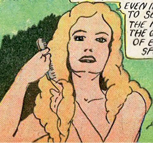 Magician from Mars (Centaur comics) combing her hair
