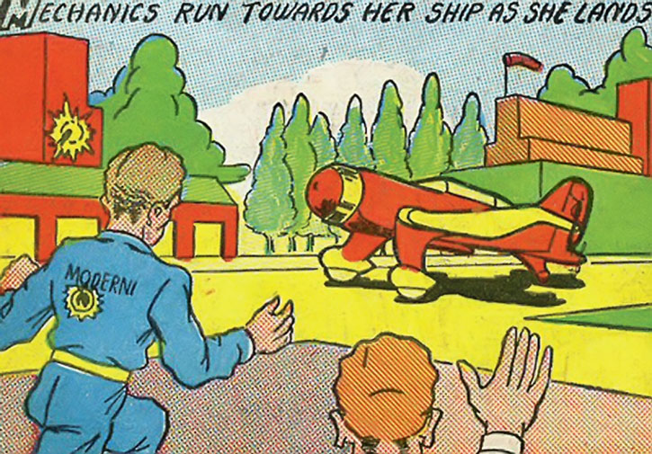 The Magician From Mars lands her plane