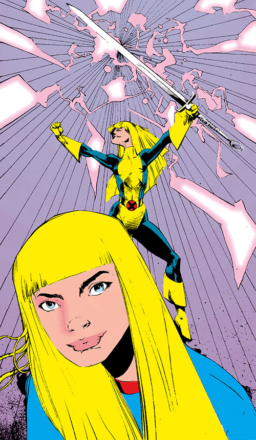 Magik of the New Mutants (Marvel Comics) during the 1980s