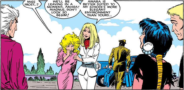 Magma of the New Mutants (Marvel Comics) and Emma Frost