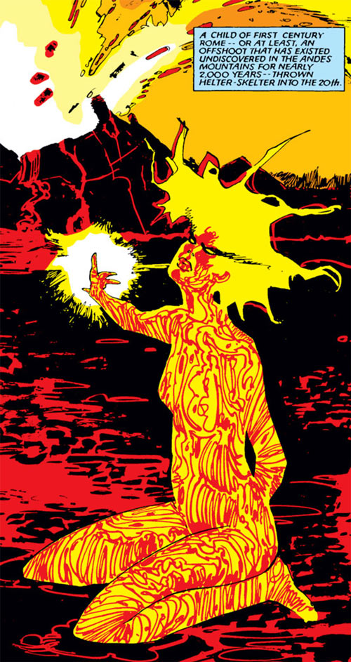 Magma of the New Mutants - Marvel Comics - Bill Sienkewicz