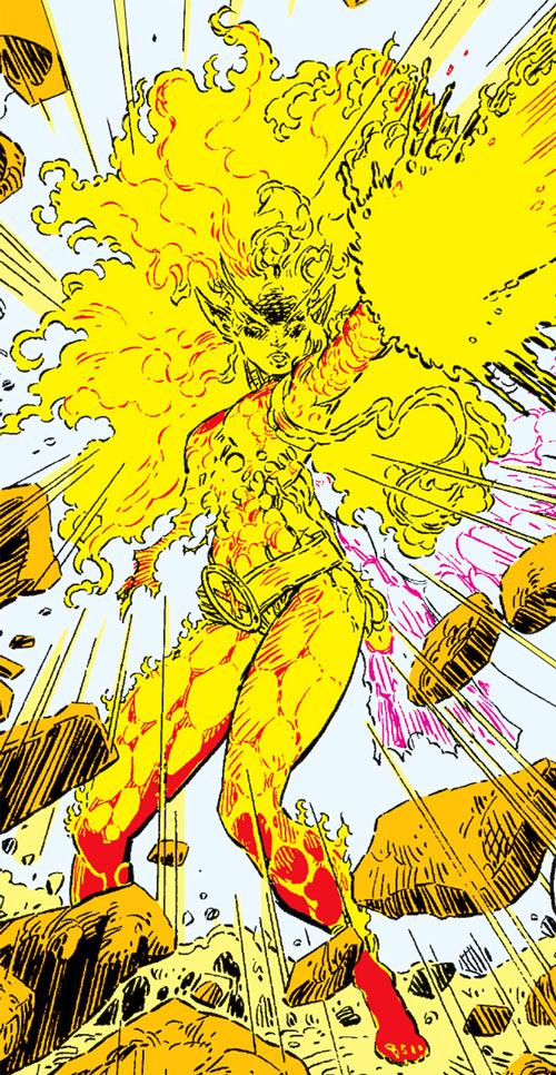 Magma of the New Mutants (Marvel Comics) as an Asgardian fairy