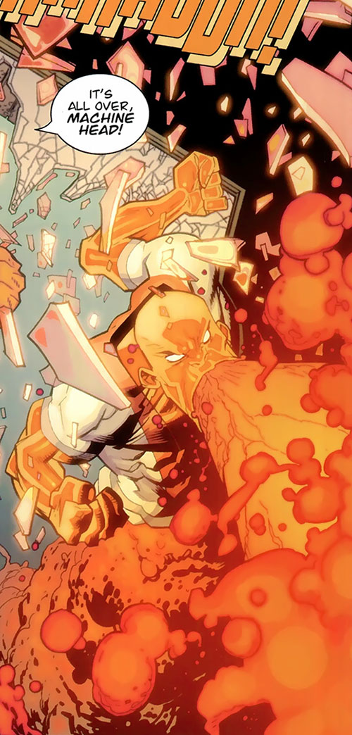 Magmaniac (Invincible enemy) (Image Comics) belching lava