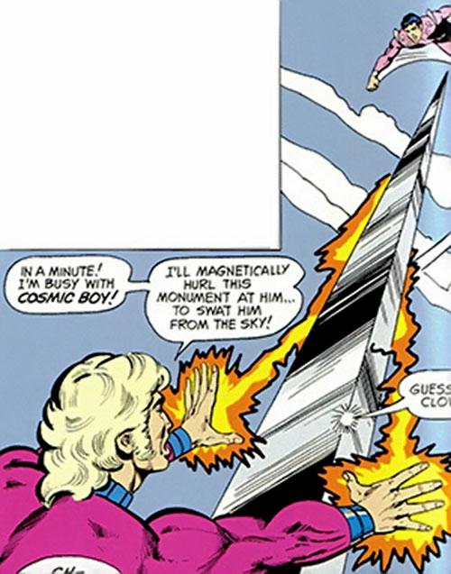 Magno-Lad of the Legion of Super-Villains (DC Comics) vs. Cosmic Boy