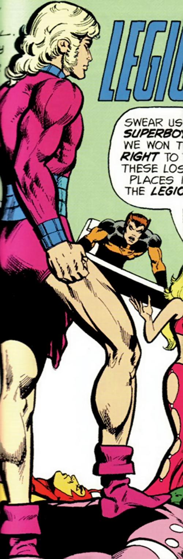 Magno-Lad of the Legion of Super-Villains (DC Comics) and Calorie Queen