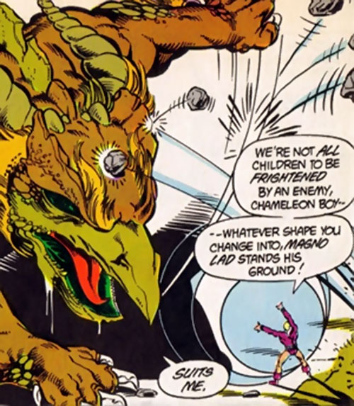 Magno-Lad of the Legion of Super-Villains (DC Comics) vs. Chameleon Boy