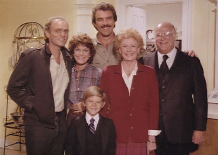Magnum (Tom Selleck) and relatives