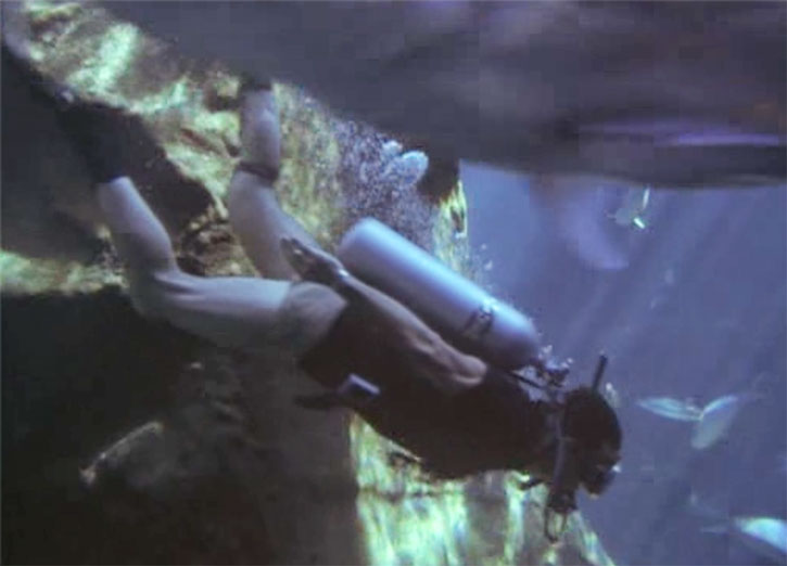 Magnum (Tom Selleck) SCUBA diving