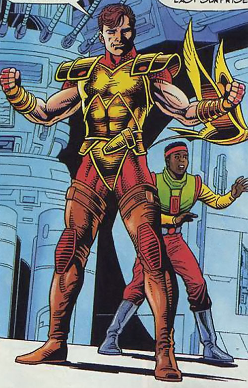 Magnus Robot Fighter (Valiant Comics 1990s) with golden breastplate