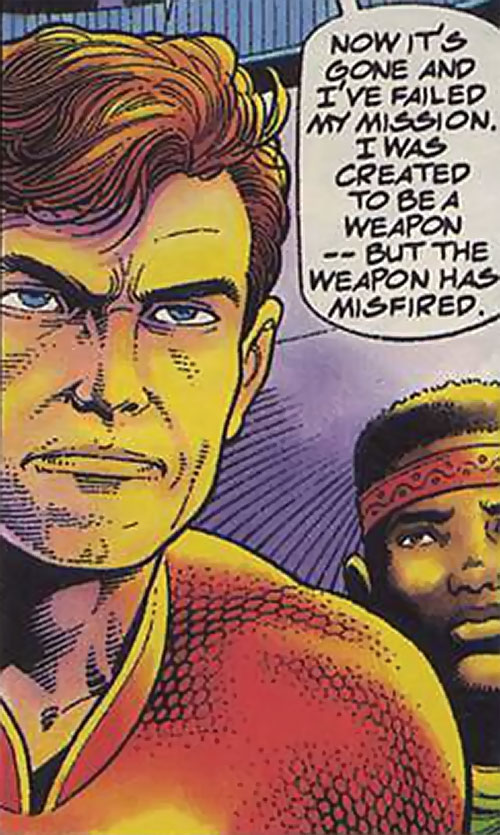 Magnus Robot Fighter (Valiant Comics 1990s) face closeup