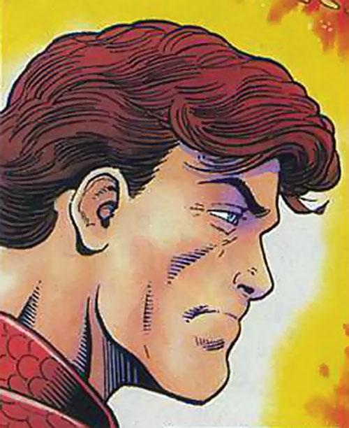 Magnus Robot Fighter (Valiant Comics 1990s) face closeup side view