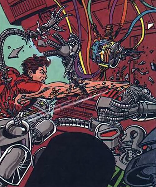 Magnus Robot Fighter (Valiant Comics 1990s) beheads a robot