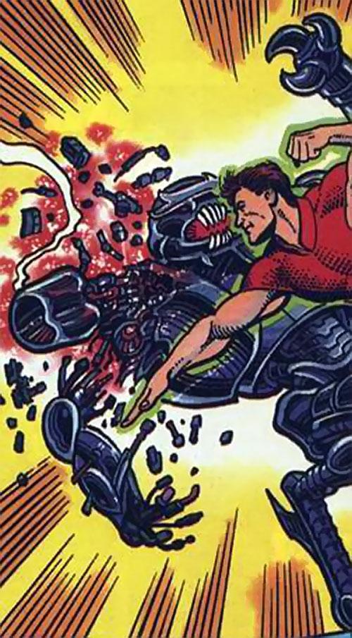 Magnus Robot Fighter (Valiant Comics 1990s) cripples a robot