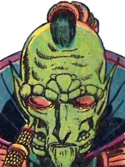 Mahan Khanda (Claw the Unconquered enemy) (DC Comics) face closeup