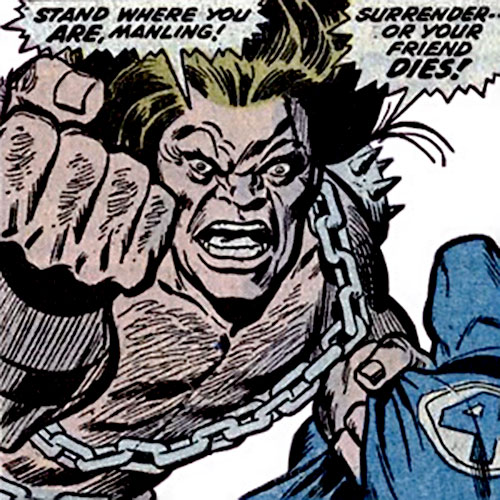 Mahkizmo (Fantastic 4 enemy) (Marvel Comics) threatening