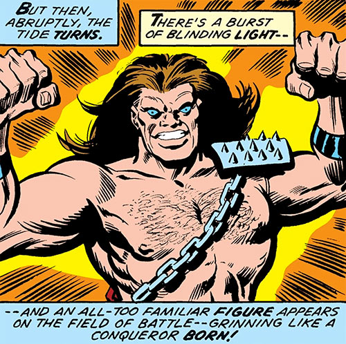 Mahkizmo (Fantastic 4 enemy) (Marvel Comics) flexing