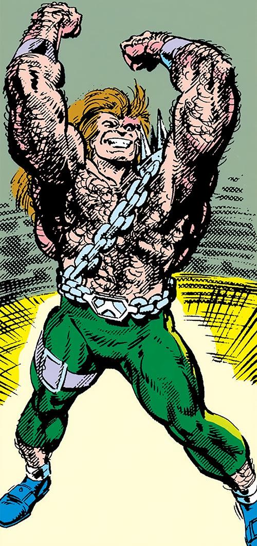 Mahkizmo (Fantastic 4 enemy) (Marvel Comics) triumphant