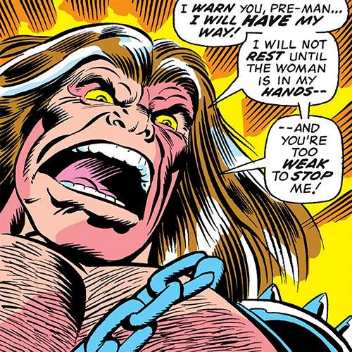Mahkizmo (Fantastic 4 enemy) (Marvel Comics) yelling