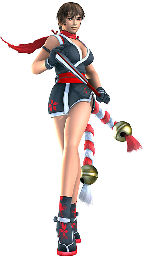 Mai Shiranui (Fatal Fury / King of Fighters) in a dark blue ensemble