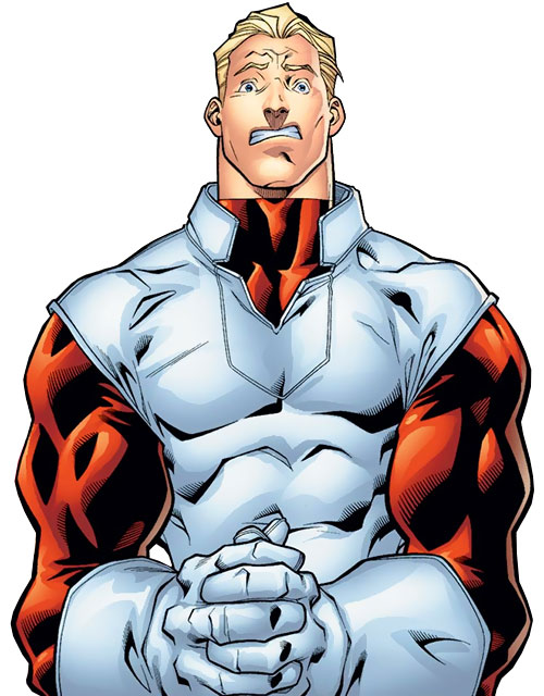 Major Mapleleaf of Alpha Flight (Marvel Comics) looking shocked