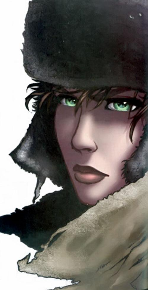 Makita (Red Star comics) atmospheric face closeup