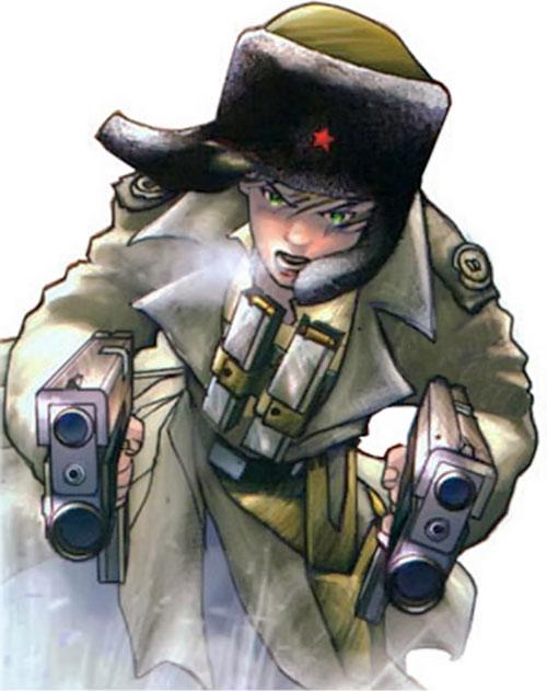 Makita (Red Star comics) dual-wielding machine pistols