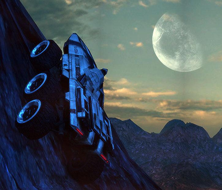 A Mako climbs a steep mountain