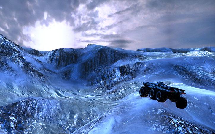 A Mako exploring a glacier