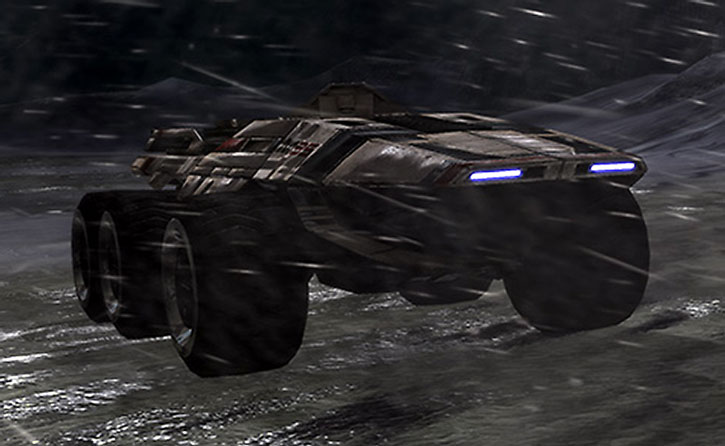 A Mako amidst the snow at night