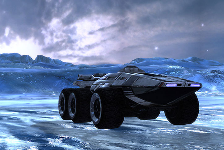 A Mako rolling over ice and snow