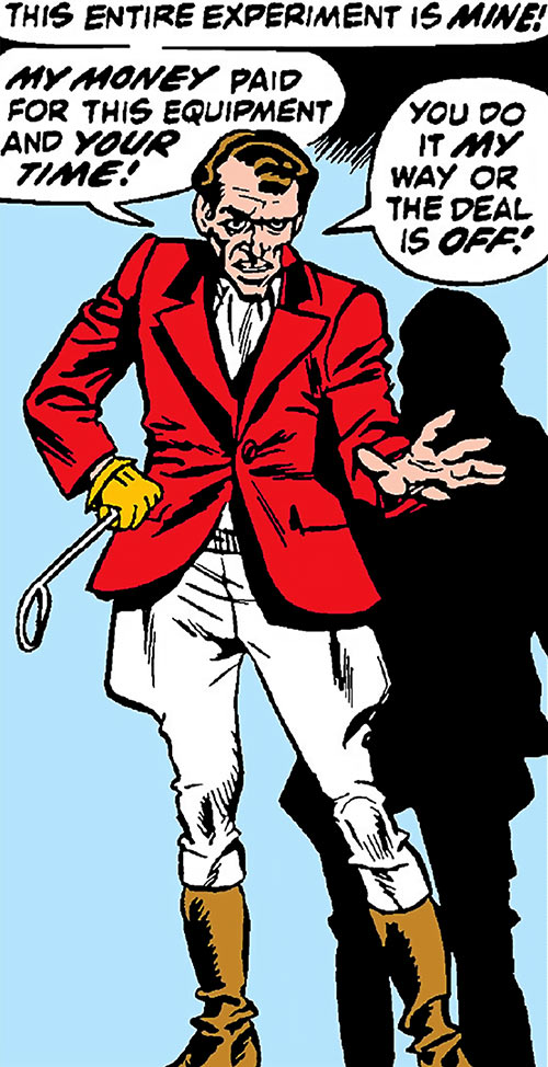Mal Donalbain (Cat enemy) (Marvel Comics) in horse riding clothes