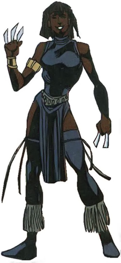 Malice (Black Panther enemy) (Marvel Comics) (Nakia) with throwing claws