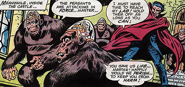 The Count with his cybernetic gorillas