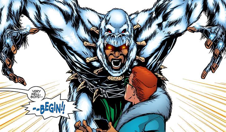 Man-Ape (M'Baku) vs. Henry Peter Gyrich (Marvel Comics)