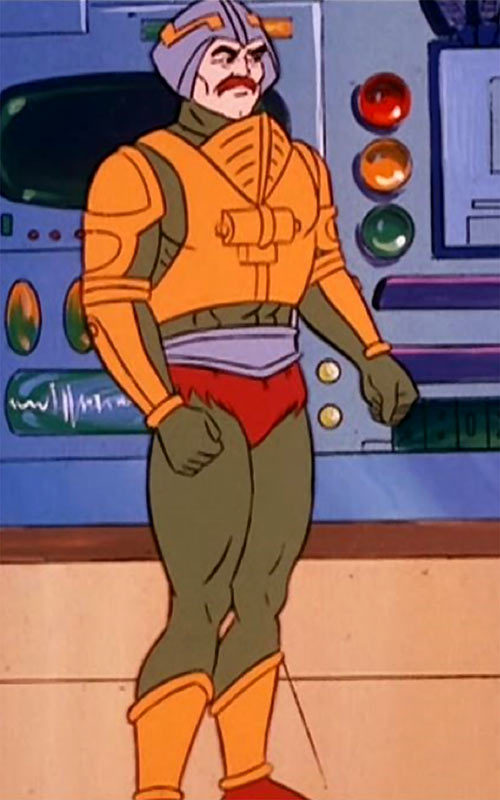 Man-at-Arms (Masters of the Universe 1980s cartoon) in a lab