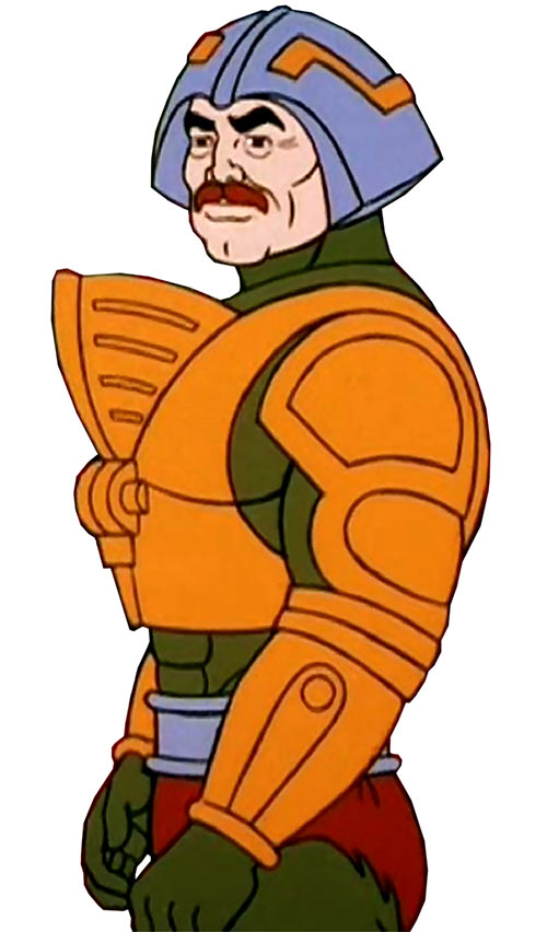 Man-at-Arms (Masters of the Universe 1980s cartoon) side view