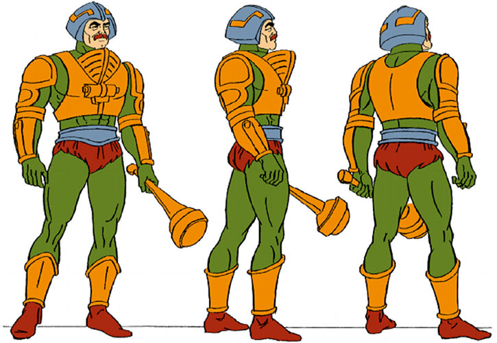 Man-at-Arms (Masters of the Universe 1980s cartoon) model sheet