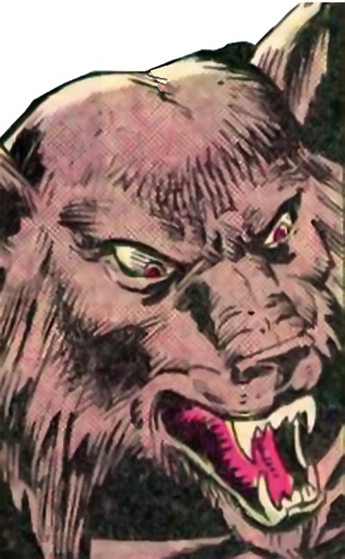 Man-Beast (Adam Warlock / Thor enemy) (Marvel Comics) (Wolf) furious face