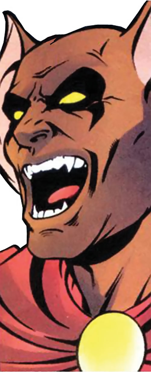 Man-Beast (Adam Warlock / Thor enemy) (Marvel Comics) (Wolf) laughing face