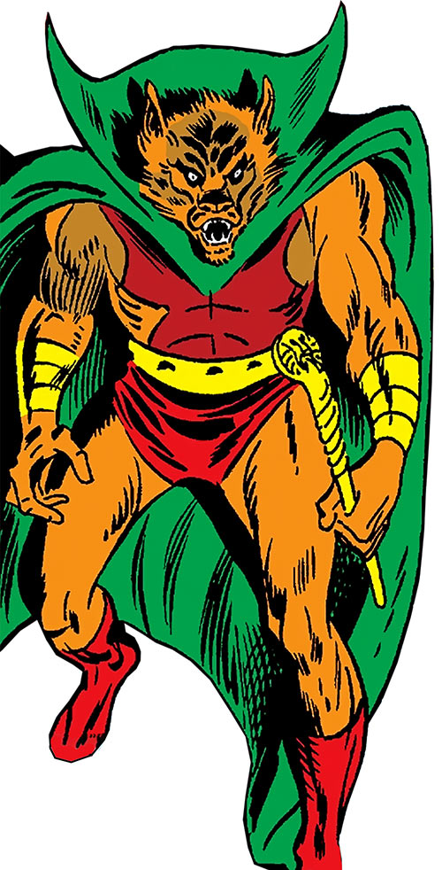 Man-Beast (Adam Warlock / Thor enemy) (Marvel Comics) (Wolf) holding a sceptre