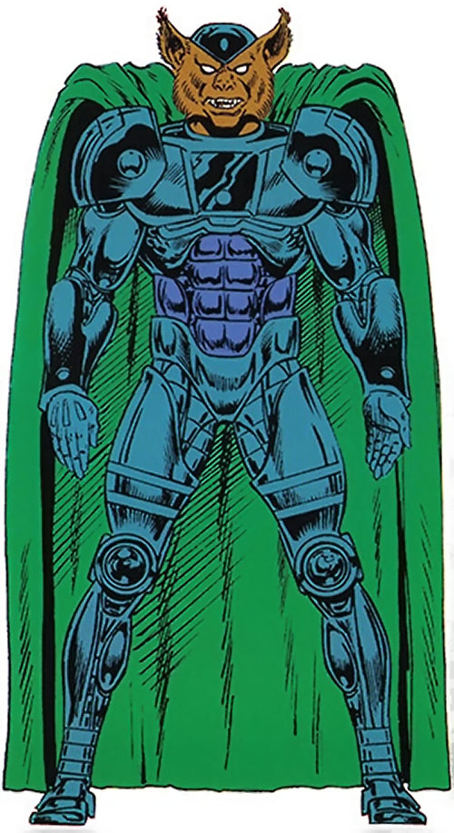 Man-Beast (Adam Warlock / Thor enemy) (Marvel Comics) (Wolf) handbook master edition gray armor green cloak