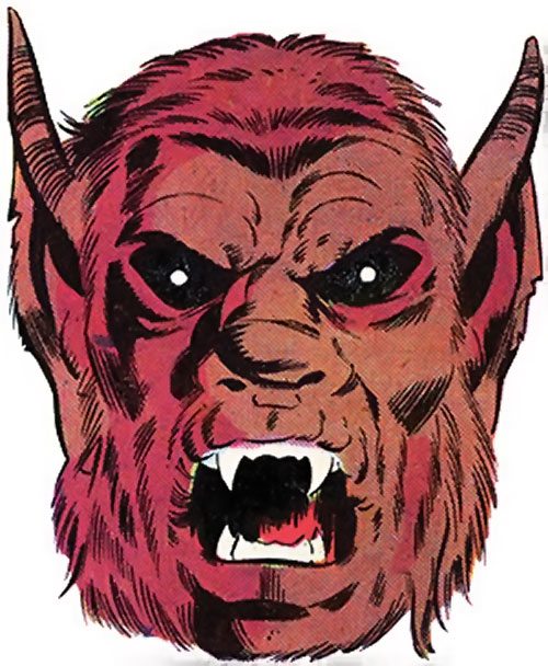 Man-Beast (Adam Warlock / Thor enemy) (Marvel Comics) werewolf-like face
