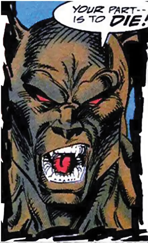 Man-Beast (Adam Warlock / Thor enemy) (Marvel Comics) (Wolf) furless brown face