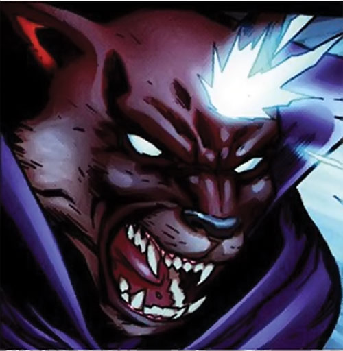 Man-Beast (Adam Warlock / Thor enemy) (Marvel Comics) (Wolf) using a mind power