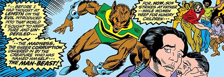 Man-Beast recap panel