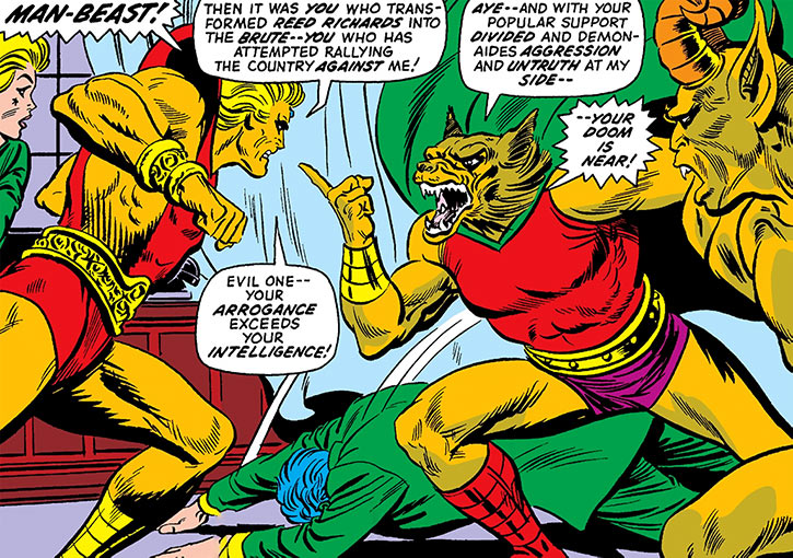 Man-Beast confronts Adam Warlock in the Oval Office