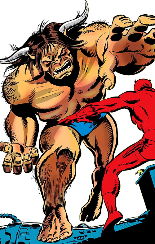 Man-Bull (Marvel Comics) (1970s appearances) vs. Daredevil