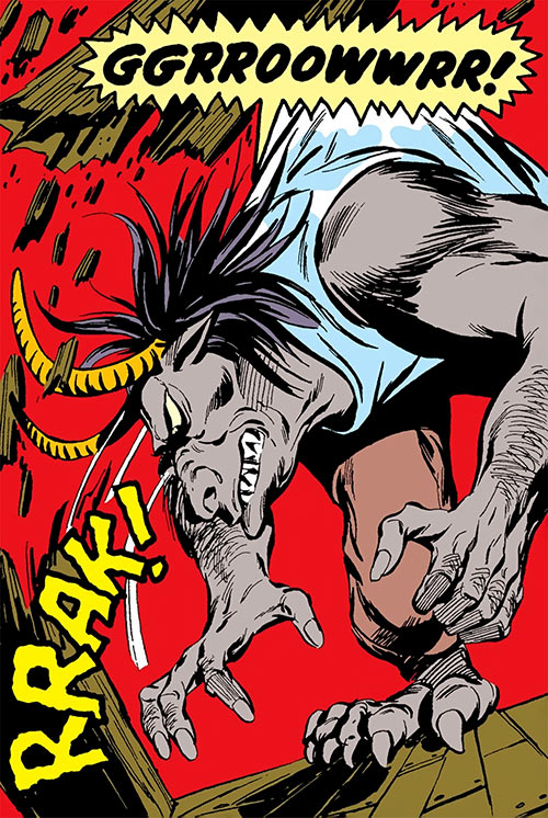 Man-Bull (Marvel Comics) (1970s appearances) rampage